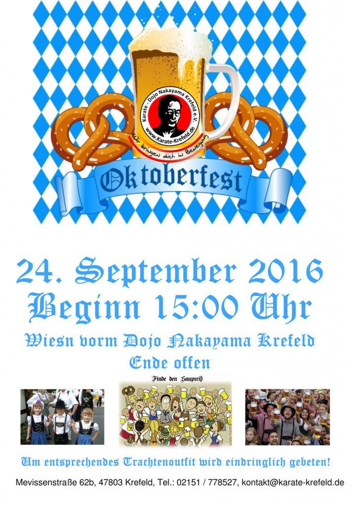 Plakat Oktoberfest 2016